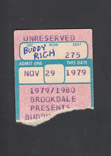 Buddy Rich 1979 Vintage Concert small Ticket Stub Brookdale College Nj