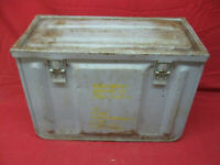 Vintage WWII Ammunition Metal Box Large w Working Latches Heavy Duty Steel MK3