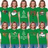 WOMEN'S Funny Merry Christmas T-shirt XMAS Gift Ugly Shirts Santa Green