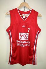 Vintage Adidas Basketball Vest Jersey Shiny Rare Retro BSV Wulfen #7 size SMALL