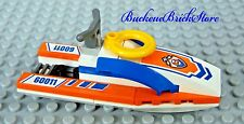 NEW Lego City Minifig Vehicle RESUCE JET SKI Patrol Boat w/Yellow Life Preserver