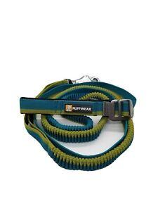 Ruffwear Roamer bungee dog leash hand-held or waist-worn extends 7.3-11 ft Blue