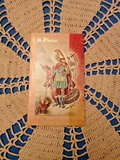 """NEW """"ST FLORIAN"""" LAMINATED Gold Imprinted Detail Prayer card Lot/5 FIREFIGHTERS"""