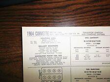 repair manuals \u0026 literature for 1964 chevrolet corvette for sale ebay1964 chevrolet corvette eight sereis 327 v8 fuei injection \u0026 w ti tune up chart