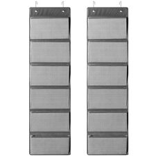 2 Pack 6-Shelf Over The Door File Organizer Hanging Wall File Organizer for Home