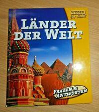 Wissensbuch für Kinder - Länder der Welt - Fragen und Antworten - Kinderbuch