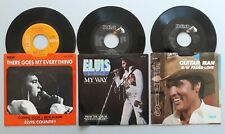 ELVIS PRESLEY Guitar Man, My Way, There Goes My Everything ORIGINAL 45s+ sleeves