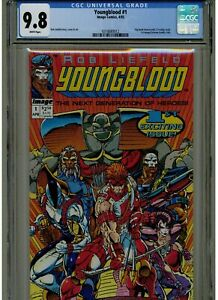 YOUNGBLOOD #1 CGC 9.8 MINT WHITE PAGES 1992 ROB LIEFIELD IMAGE COMICS BLUE LABEL