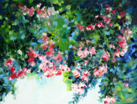 "Original Oil Painting Crabapple Blossom 18x24"" Julia Lu"