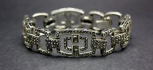 .925 STERLING SILVER MARCASITE BRACELET   FREE SHIPPING! FREE GIFT WRAP!!!
