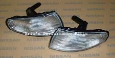 Nissan 26175-75F25 + 26170-75F25 OEM Front Corner Lights S14 Zenki Silvia JDM