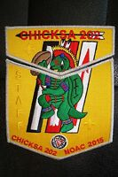 CHICKSA 202 YOCONA AREA 2-PATCH OA 100TH ANN 2015 NOAC FLAP 200 MADE SMY STAFF