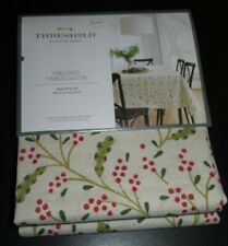 Threshold Winterberries Christmas tablecloth NIP Oblong 60x104in Free Shipping