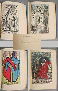 RARE 1947 Signed Salvador Dali Limited Edition Essays Michel De Montaigne Book