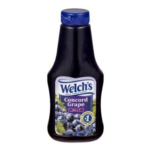 NEW WELCH'S CONCORD GRAPE JELLY 20 OZ SQUEEZE BOTTLE PICKED FRESH FROM OUR VINES