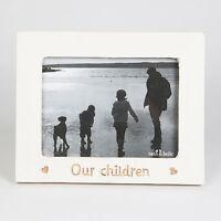 "Sass & Belle Shabby Whitewashed ""Our Children"" Freestanding Photo Frame 21x26cm"