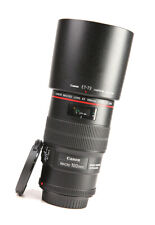 Canon EF 100mm F2.8 L IS Macro USM Pro L Series Lens + Front & Rear  Caps + Hood