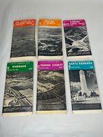 Vintage Lot Thomas Bros Maps Los Angeles, Ventura, Orange County, Santa Barbara