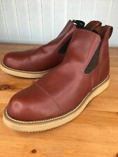 Canada West 14327 Romeo Slip On Chelsea Boots Red Dog Loggertan Sz 13