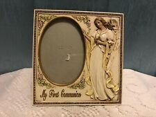 2006 My First Communion Resin angel frame by Roman Inc