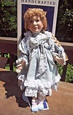 "William Tung Moments Treasured Porcelain Doll Meredith 1992 20""  COA Box"