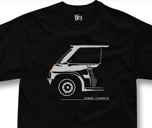 T-shirt for renault 5 turbo fans classic french sports car tshirt