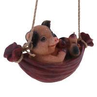 Swing Statue Resin Animal Decor Simulation Home Garden Craft Figure Pig#2