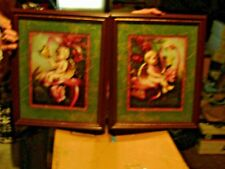 Cherub angel picture in frame set.