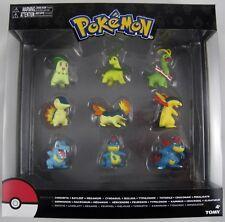 NEW! Tomy Pokemon Chikorita Cyndaquil Totodile Evolution Pack 9 Figures