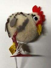 """2.5"""" Vintage Steiff Wool Made Woolie Bird Rooster Chicken Has Tags #X"""