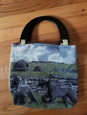 Kerry Blue Terrier Dog Breed tapestry purse handbag one of a kind black handles