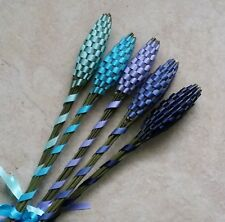 Real Lavender Wands Five 5 Medium Size Free Shipping Cool Blues Handmade
