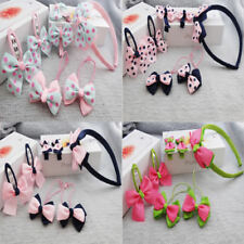 7pcs/set Children Hairband for Hair Baby Girls Lovely Bow Headwear Hair clipJDUK