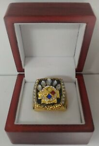 Hines Ward - 2005 Pittsburgh Steelers Super Bowl Gold Color Ring W Wooden Box