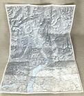 1910 Antique Map of Switzerland Splügen Pass Swiss Lepontine Alps Chiavenna