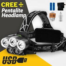 LED Headlamp Head Torch work Light Rechargeable Flashlight Camping Lamp CREE T6