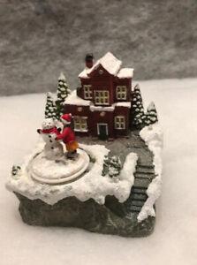 LED 14cm Festive Christmas Animated Village Snowman Decoration