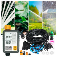 25M DIY Micro Drip Irrigation System Timer Self Watering Garden Tube Hose