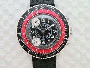 Vintage Lucerne Sport Poor Mans Calculator Chronograph Wristwatch - Serviced