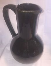 Vintage McCoy Pottery Carafe Pitcher Vase High Gloss Black Ebony Super Glaze