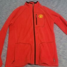 Columbia Mens Manchester United Red Fleece Jacket Youth XL fits like Adult S