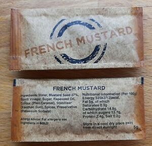 French Mustard 5g sachets Various Quantities NEW STOCK