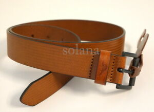 """Tommy Bahama Textured Tan Genuine Leather Dress Belt Men's 1.25"""" wide New $68"""