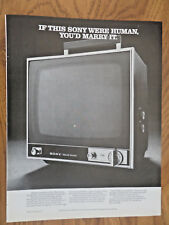 1970 Sony TV Television Ad If This Sony were Human You'd Marry It TV11OU