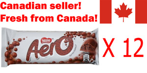 12 Aero Canadian Chocolate Candy Bars Bubbles by Nestle Canada FRESH