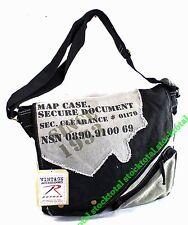BOLSA Rothco Vintage Canvas Two-Tone Imprinted Map Bag 9248 RT