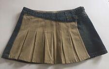 DDP Lady jupe jean effet usé et tissus Plissé Beige 2 Boucles 16ans (XXS 32)