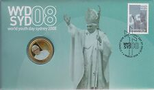 Australia Stamps 2008 World Youth Day Sydney Pope Catholic Cross Crucifex PNC