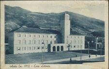 Aosta - Casa Littoria - Val d'Aosta Cartolina viaggiata 1939 - Animata