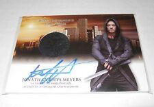 Mortal Instruments Autograph Costume Trading Card #AW-JRM Jonathan Rhys Meyers